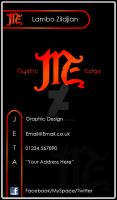Mystic Edge Business Card Back by LamboZildjian