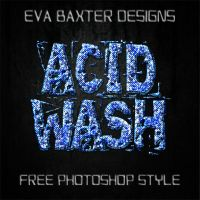 EVA BAXTER DESIGNS - ACID WASH FREEBIE STYLE by EvaTakesNoPrisoners