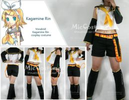 Vocaloid Rin cosplay by miccostumes