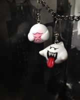 New and Improved Boo Earrings by Gatobob