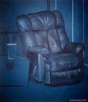 The Blue Chair by snachicat