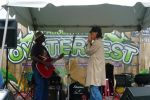 Playing harp at the Oysterfest in Asbury Park by AckBo