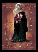 Emily+Severus Chibis - Magical Christmas by RedPassion