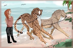 Spots on the Beach by Scutterland