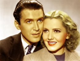 Jimmy Stewart and Jean Arthur by Filmclassics