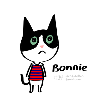 doodle request 24: animal crossing bonnie by inkblort
