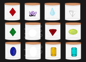 Birthstone Bottle Adoptables (CLOSED) by vega37
