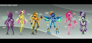 My Mecha Ponies by rubendevela