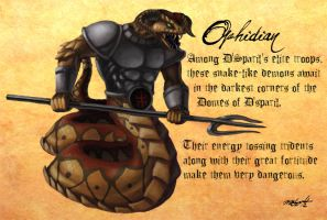 Heretic Monsters: Ophidian by Liamythesh