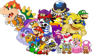 Paper Mario Cast by TheRealMulderman