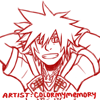 Sora  - sketch red by colormymemory