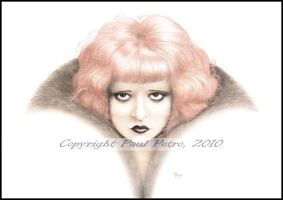 Clara Bow - Opus VI 'Atomic' by Artman2112