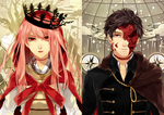The Faceless King and Crownless Queen by raitokura