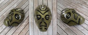 Dragon Priest Mask - Cold Cast Brass by Thomasotom
