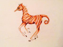 Colored Seahorse by SEBBYLIKESCATS