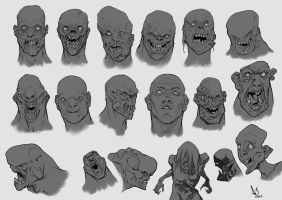 heads studys by DavidSequeira