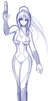 Sketch: Samus by Claymore32