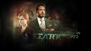 Iron Man - Tony Stark and Pepper Potts by LissVelaskes