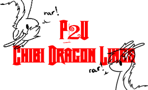 P2U Chibi Dragon Lineart by 14th-Crown