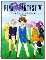 Final Fantasy V Comic Cover by cocosnowlo