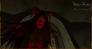 Tiefling Kyraa -I think she likes you- Second Life by Jace-Lethecus