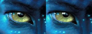 Na'vi eye 3D, cross-eyed by LukeR87