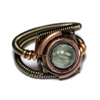 Steampunk Ring seraphinite by CatherinetteRings