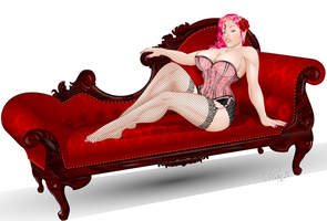 Kristin - Pink Red Burlesque by sircle