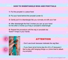 how to disentangle your wig or ponytail by aiko-yume