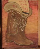 cowgirl boots and a hat by mydogbridget