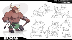 Commission - Brogan Model Sheet by AlexanderHenderson