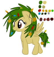 :Pony Adopt: Frosty Noel Scrooge Winter Tree CLOSE by CowaiiAdoptables