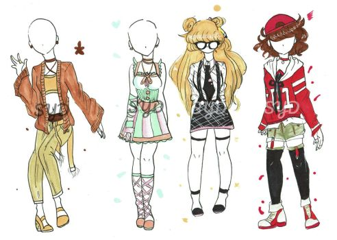 CHEAP and CUTE Outfits (0/4 CLOSED) by XDrawingWithSydneyX