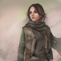 Jyn Erso by beamay