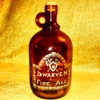 Dwarven Fire Ale - glass etching/engraving by ckatt01