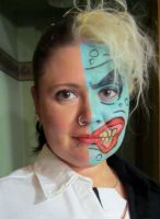 9 18 2013 Two Face Face Paint by MyThoughtsAreDeep
