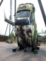 Ambulance, Thorpe Park by ggeudraco