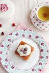 Cranberry cake slice by kupenska
