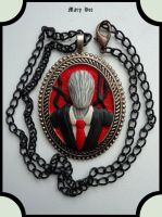 Slenderman -  necklaces by MaryDec