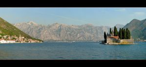 Kotor Bay And Saint George Island - Panorama by skarzynscy