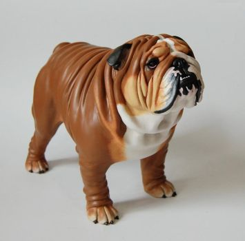 English Bulldog Sculpture by Kesa-Godzen