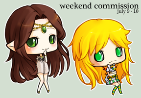 tinierme: weekend commissions by mochimaruvii