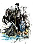 Pitch Black and Jack Frost by AllyEdFrown
