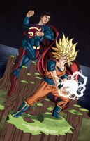 Goku Vs Superman 2011 by thelearningcurv