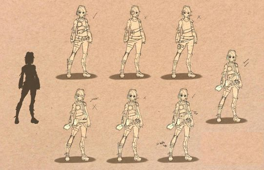 An old character design sheet. by Periphone
