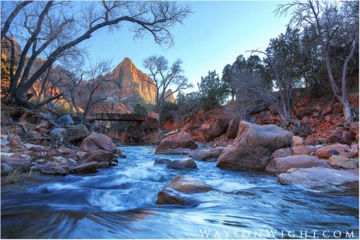Zion in Winter by tourofnature
