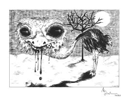 Creepy ostrich by kiddou