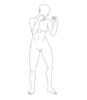 Fighting Pose Female 05 by Death-Tendency