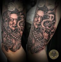 smoke chica tat by 2Face-Tattoo