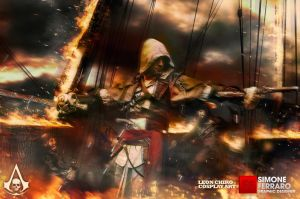 Heart on Fire- Edward Kenway Cosplay by Leon Chiro by LeonChiroCosplayArt